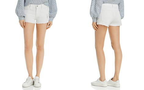 FRAME Le Cutoff Denim Shorts in Blanc Rookley - Bloomingdale's_2