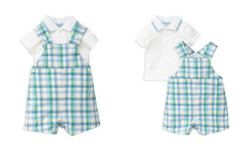 Little Me Boys' Polo Shirt & Gingham Shortall Set - Baby - Bloomingdale's_2