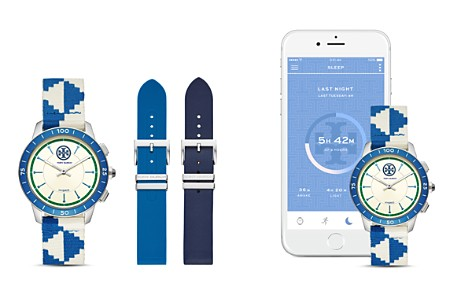 Tory Burch ToryTrack Collins Blue Hybrid Smartwatch, 38mm - Bloomingdale's_2