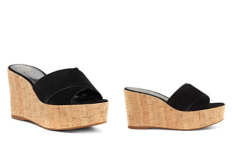 VINCE CAMUTO Women's Kessina Leather & Cork Platform Wedge Slide Sandals - Bloomingdale's_2