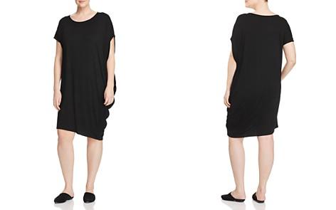 Eileen Fisher Plus Side-Drape Dress - Bloomingdale's_2