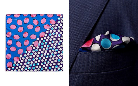 Eton Lemons Polka Dot Pocket Square - Bloomingdale's_2