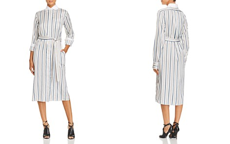 Burberry Aya Striped Silk Shirt Dress - Bloomingdale's_2