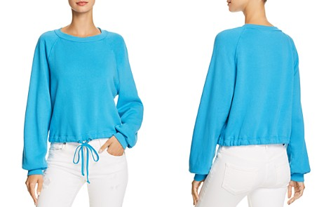PAM & GELA Cropped Drawstring Sweatshirt - 100% Exclusive - Bloomingdale's_2