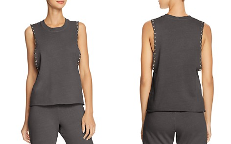 Monrow Studded Muscle Tank - Bloomingdale's_2