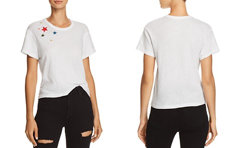 Monrow Rainbow Star Embroidered Tee - Bloomingdale's_2