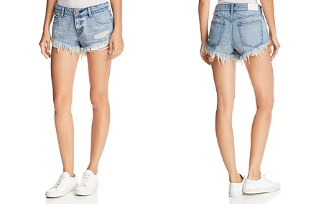 Pistola Gigi Distressed Cutoff Denim Shorts in Dime Piece - Bloomingdale's_2