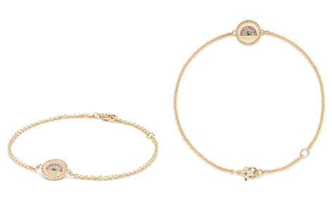 David Yurman Cable Collectibles Rainbow Bracelet with Pink Sapphire, Yellow Sapphire & Tsavorite in 18K Gold - Bloomingdale's_2