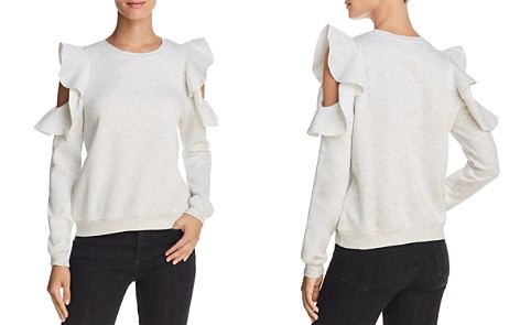 Rebecca Minkoff Gracie Ruffled Cold-Shoulder Sweatshirt - Bloomingdale's_2