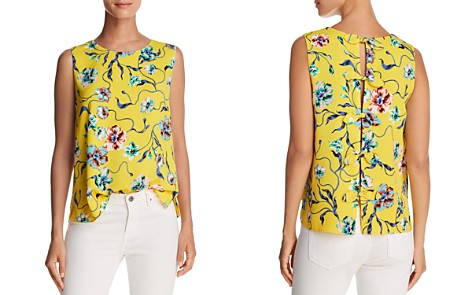 Cooper & Ella Kate Shell Slit Back Floral-Print Top - Bloomingdale's_2