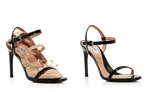 Moschino Women's 2-in-1 Patent Leather & Satin Ankle Strap Sandals - Bloomingdale's_2