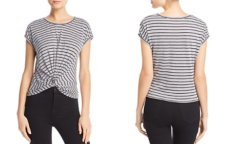 AQUA Twist-Front Striped Tee - 100% Exclusive - Bloomingdale's_2