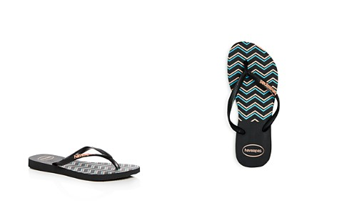 havaianas Girls' Zig-Zag Slim Flip-Flops - Big Kid - Bloomingdale's_2