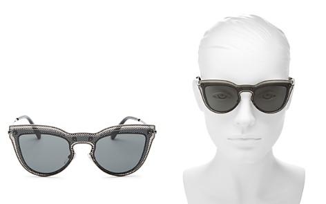 Valentino Round Shield Sunglasses, 135mm - Bloomingdale's_2