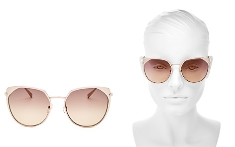 Longchamp Women's Roseau Family Round Sunglasses, 56mm - Bloomingdale's_2