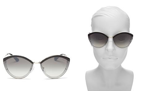 Prada Mirrored Oval Sunglasses, 64mm - Bloomingdale's_2