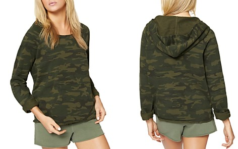 Sanctuary Camo Raw-Edge Hoodie - Bloomingdale's_2