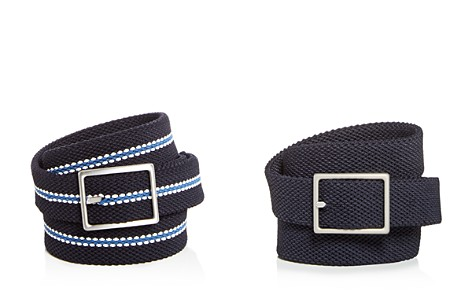 The Men's Store at Bloomingdale's Woven Stretch Stripe Reversible Belt - 100% Exclusive_2