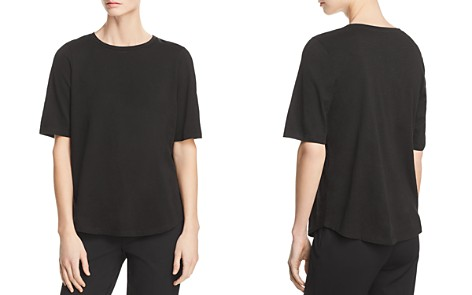 Eileen Fisher System Crewneck Elbow-Sleeve Tee - Bloomingdale's_2