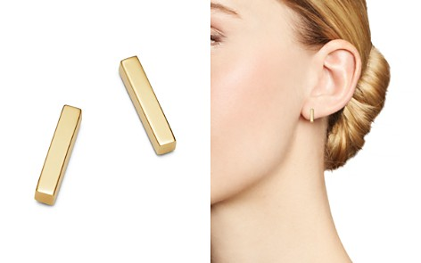 Moon & Meadow Bar Stud Earrings in 14K Yellow Gold - 100% Exclusive - Bloomingdale's_2