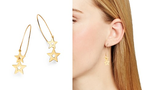 Moon & Meadow Double Star Wire Drop Earrings in 14K Yellow Gold - 100% Exclusive - Bloomingdale's_2