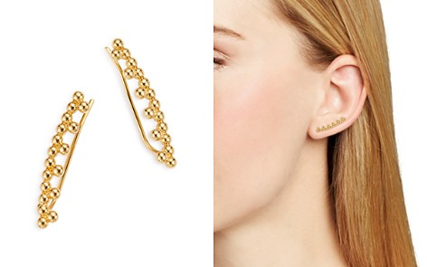 Moon & Meadow Beaded Ear Climbers in 14K Yellow Gold - 100% Exclusive - Bloomingdale's_2