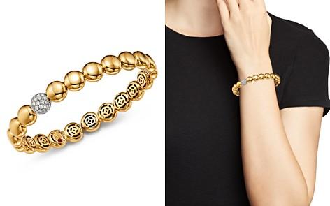 Roberto Coin 18K White & Yellow Gold Pavé Diamond Disc Bracelet - Bloomingdale's_2