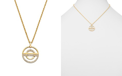 Bloomingdale's Diamond Open Half Circle Pendant Necklace in 14K Yellow Gold, 0.25 ct. t.w. - 100% Exclusive _2
