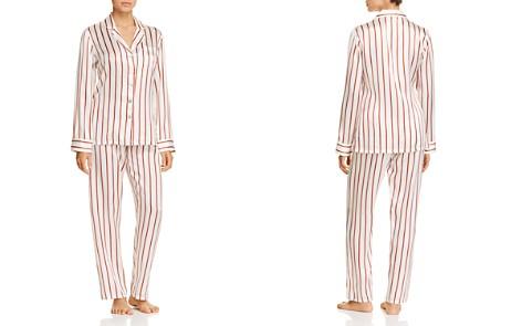 GINIA Striped Silk Long PJ Set - Bloomingdale's_2