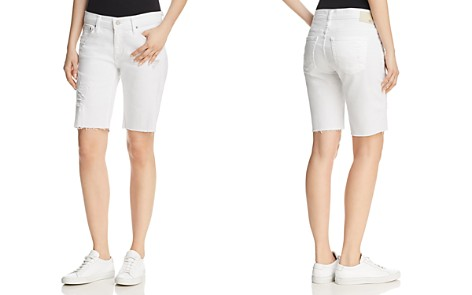 AG Nikki Denim Bermuda Shorts in 1 Year White Mended - Bloomingdale's_2