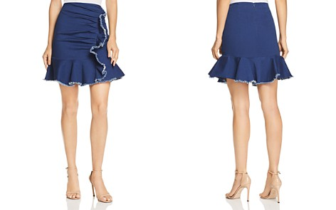 Lucy Paris Kylie Ruffled Ruched Denim Skirt - 100% Exclusive - Bloomingdale's_2