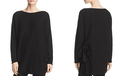 Eileen Fisher Cashmere Side-Tie Tunic Sweater - Bloomingdale's_2