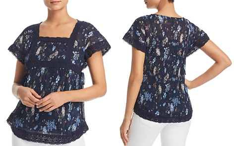 Love Scarlett Lace Trim Floral Top - Bloomingdale's_2
