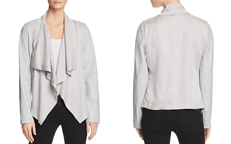 Bagatelle Mixed Media Drape Jacket - Bloomingdale's_2