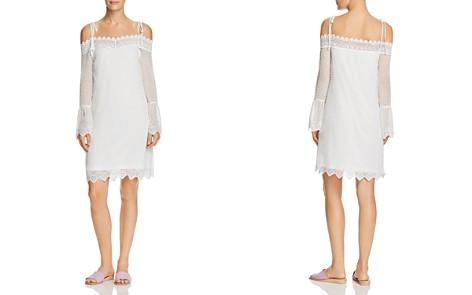 AQUA Swiss Dot Cold-Shoulder Dress - 100% Exclusive - Bloomingdale's_2