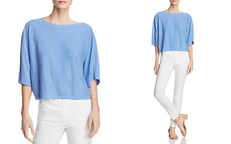 Eileen Fisher Cashmere Cropped Dolman-Sleeve Sweater - Bloomingdale's_2