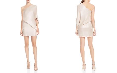 HALSTON HERITAGE One-Shoulder Metallic Asymmetric Dress - Bloomingdale's_2