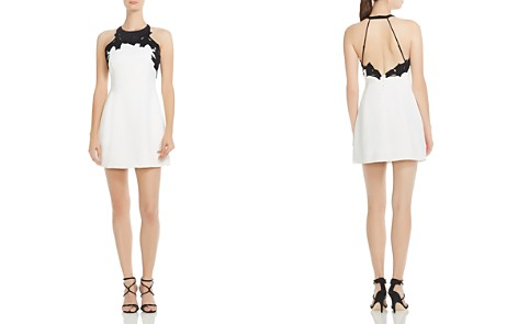 HALSTON HERITAGE Embroidered-Top Mini Dress - Bloomingdale's_2