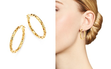 Bloomingdale's Perforated Hoop Earrings in 14K Yellow Gold - 100% Exclusive _2