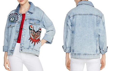 Maje Baltimore Embroidered Denim Jacket - Bloomingdale's_2