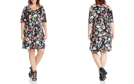Karen Kane Plus Floral Cold Shoulder Dress - Bloomingdale's_2