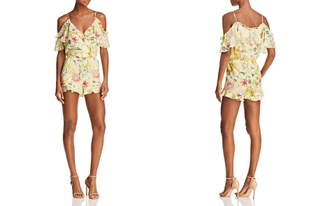 Parker Ringly Cold-Shoulder Floral Silk Romper - 100% Exclusive - Bloomingdale's_2