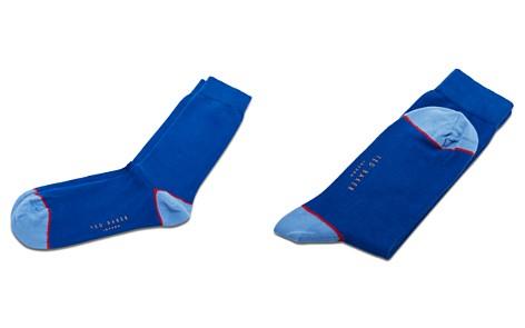 Ted Baker Jack Contrast Heel and Toe Socks - Bloomingdale's_2
