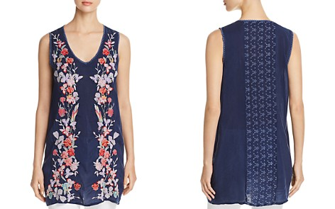 Johnny Was Cattleya Embroidered Tunic Top - Bloomingdale's_2