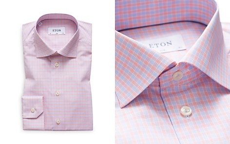 Eton Multi Check Slim Fit Dress Shirt - Bloomingdale's_2