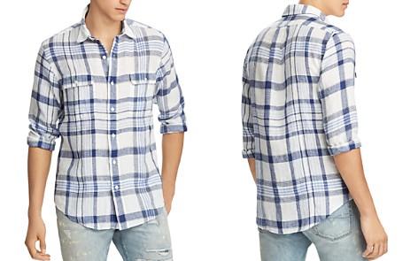 Polo Ralph Lauren Plaid Linen Classic Fit Button-Down Workshirt - Bloomingdale's_2
