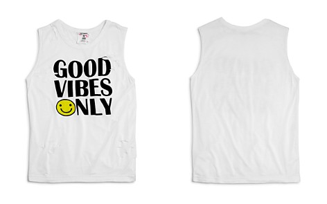 Flowers by Zoe Girls' Distressed Good Vibes Only Tank - Little Kid - Bloomingdale's_2