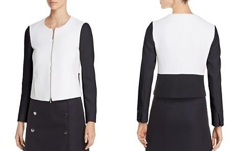 BOSS Koralie Color Block Zip Jacket - Bloomingdale's_2