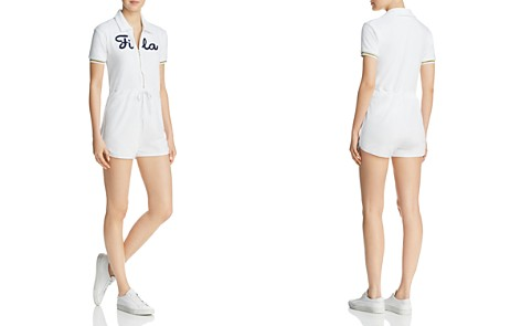 FILA Christabel Logo Terry Romper - Bloomingdale's_2