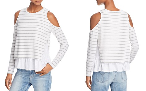 Generation Love Elsie Layered-Look Cold-Shoulder Tee - Bloomingdale's_2